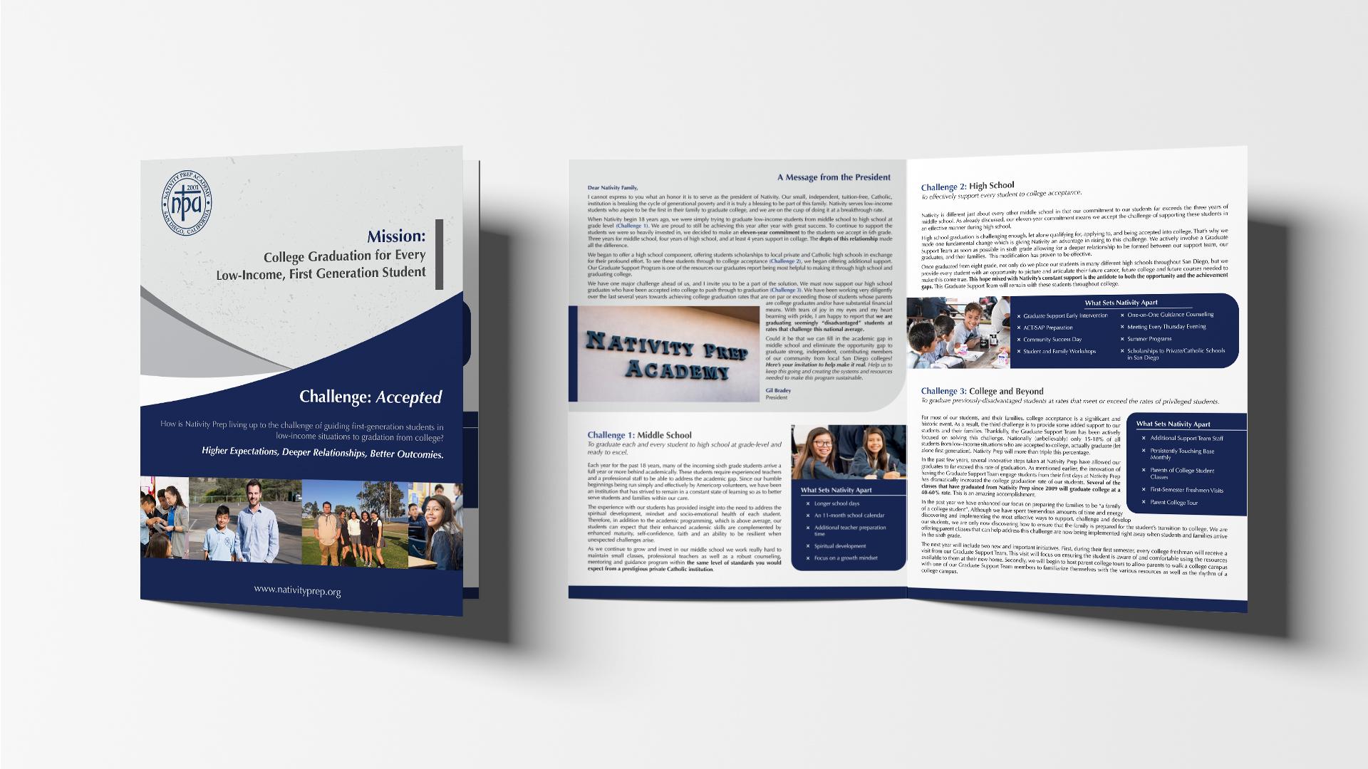 Mission brochure design
